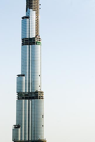 image 8-730-1511 United Arab Emirates, Dubai, Burj Dubai tower, as of May 2008 the tallest man made structure on Earth