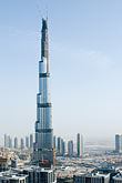 tallest stock photography | United Arab Emirates, Dubai, Burj Dubai tower and surrounding construction, image id 8-730-1515