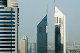 high rise stock photography | United Arab Emirates, Dubai, Emirates Towers, image id 8-730-1536