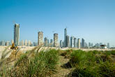 emirates towers stock photography | United Arab Emirates, Dubai, Dubai Marina, Construction site, image id 8-730-1736