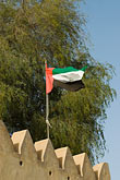 sultan bin zayed fort eastern fort stock photography | United Arab Emirates, Abu Dhabi, Emirates flag, image id 8-730-1775