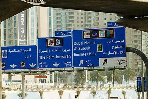 image 8-730-1883 United Arab Emirates, Dubai, Road sign, Sheikh Zayed Road