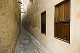 restored historic building stock photography | United Arab Emirates, Dubai, Alleyway in historic Bastakiya Quarter, image id 8-730-239