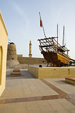 historic wooden boat stock photography | United Arab Emirates, Dubai, Dubai Fort and Museum, traditional Arab dhow sailing ship, image id 8-730-274