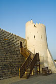 persian gulf stock photography | United Arab Emirates, Fujairah, Fujairah Fort, built in 1670, oldest fort in the Emirates, image id 8-730-440