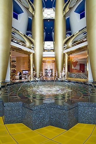 image 8-730-565 United Arab Emirates, Dubai, Burj Al Arab, interior of lobby atrium