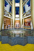 fountain stock photography | United Arab Emirates, Dubai, Burj Al Arab, interior of lobby atrium, image id 8-730-565