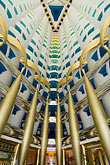 distinctive stock photography | United Arab Emirates, Dubai, Burj Al Arab, interior of lobby atrium, image id 8-730-580