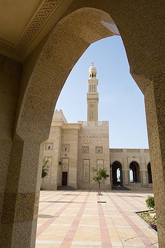 image 8-730-8999 United Arab Emirates, Dubai, Mosque archway and minaret, Jumeirah