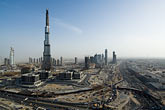 downtown stock photography | United Arab Emirates, Dubai, Burj Dubai construction site, image id 8-730-9038