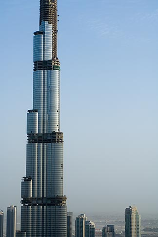 image 8-730-9063 United Arab Emirates, Dubai, Burj Dubai tower, as of May 2008 the tallest man made structure on Earth