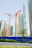 downtown stock photography | United Arab Emirates, Dubai, Burj Dubai, construction cranes, image id 8-730-9197