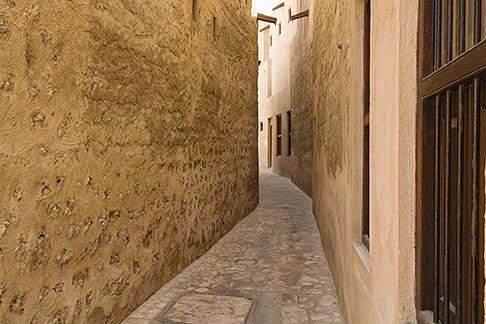 image 8-730-9351 United Arab Emirates, Dubai, Alleyway, Bastakiya Quarter, restored historic site