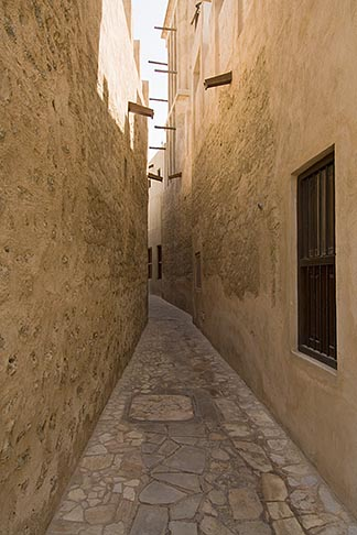 image 8-730-9353 United Arab Emirates, Dubai, Alleyway, Bastakiya Quarter, restored historic site