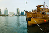 water stock photography | United Arab Emirates, Dubai, Tourist boat moored along Dubai Creek, image id 8-730-9466