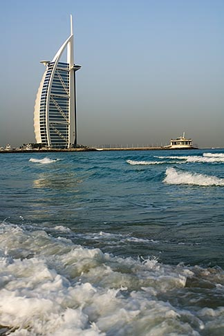 image 8-730-9565 United Arab Emirates, Dubai, Burj Al Arab from Jumeirah Beach