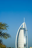 facade stock photography | United Arab Emirates, Dubai, Burj Al Arab and palms, image id 8-730-9590