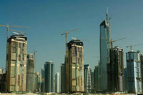 image 8-730-9656 United Arab Emirates, Dubai, Dubai Marina, construction site
