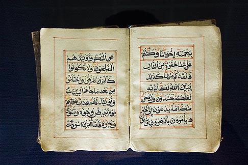image 8-730-9780 United Arab Emirates, Abu Dhabi, Historical Koran, Al Ain Museum