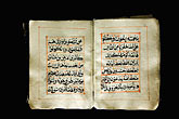 exhibit stock photography | United Arab Emirates, Abu Dhabi, Historical Koran, Al Ain Museum, image id 8-730-9780