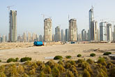 emirates towers stock photography | United Arab Emirates, Dubai, Dubai Marina, construction site, image id 8-730-9855