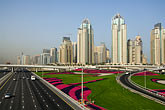 roadway stock photography | United Arab Emirates, Dubai, Dubai Marina, Sheikh Zayed Road freeway interchange, image id 8-730-9936