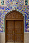 ornate stock photography | United Arab Emirates, Dubai, Blue tiled doorway, Iranian Mosque, Bur Dubai, image id 8-730-9937