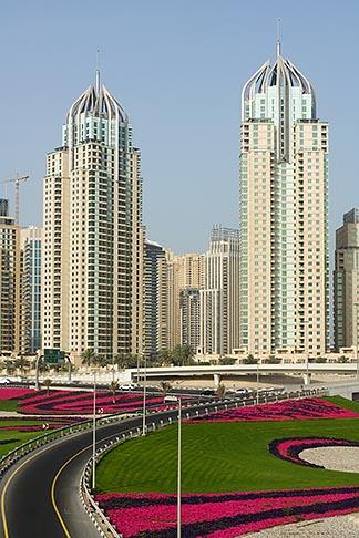 image 8-730-9947 United Arab Emirates, Dubai, Dubai Marina, Sheikh Zayed Road freeway interchange