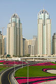 high rise stock photography | United Arab Emirates, Dubai, Dubai Marina, Sheikh Zayed Road freeway interchange, image id 8-730-9947