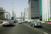 interstate stock photography | United Arab Emirates, Dubai, Sheikh Zayed Road, traffic, image id 8-730-9985