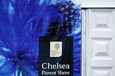 signage stock photography | England, Chelsea Flower Show, Advertising Banner , image id 3-750-44