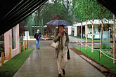 woman stock photography | England, Chelsea Flower Show, Shelter from the storm, image id 3-751-31