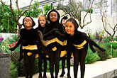 "four girls stock photography | England, Chelsea Flower Show, National Trust ""Bumblebees"" children"