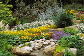 display stock photography | England, Chelsea Flower Show, Lindisfarne Gospel Garden, image id 3-753-42