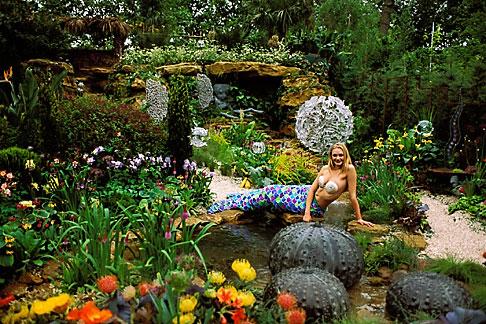 image 3-753-67 England, Chelsea Flower Show, Hasmead Octopus Garden, Mermaid