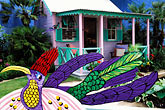 chattel house stock photography | England, Chelsea Flower Show, Barbados Chattel House Garden, image id 3-754-76