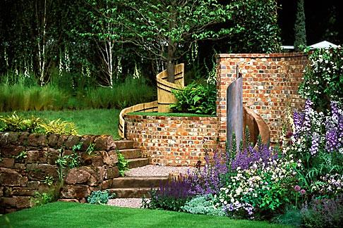 image 3-755-19 England, Chelsea Flower Show, Merrill Lynch Garden