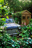 shed stock photography | England, Chelsea Flower Show, The Mini Garden by Sulis Garden Design, image id 3-755-86
