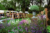 exhibit stock photography | England, Chelsea Flower Show, Laurent-Perrier Harpers & Queen Garden, image id 3-756-96