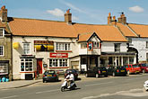 town square stock photography | England, North Yorkshire, Kirkbymoorside village square, image id 4-900-2183