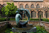chester cathedral stock photography | England, Chester, Chester Cathedral, Water of Life, bronze sculpture, image id 7-695-33