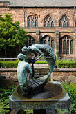 chester cathedral stock photography | England, Chester, Chester Cathedral, Water of Life, bronze sculpture, image id 7-695-39