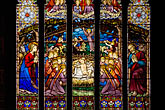 stained glass window stock photography | England, Chester, Chester Cathedral, Nativity stained glass window, image id 7-695-7436