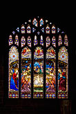 vertical stock photography | England, Chester, Chester Cathedral, Nativity stained glass window, image id 7-695-7437