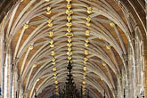 england stock photography | England, Chester, Chester Cathedral, Vaulted and ribbed ceiling in name, image id 7-695-7453