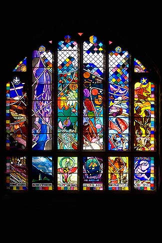 image 7-695-7455 England, Chester, Chester Cathedral, Creation stained glass window