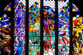 creation stained glass window stock photography | England, Chester, Chester Cathedral, Creation stained glass window, image id 7-695-7456