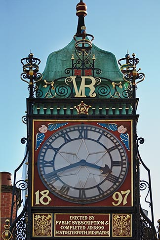 image 7-695-7482 England, Chester, Eastgate clock