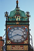 vertical stock photography | England, Chester, Eastgate clock, image id 7-695-7482