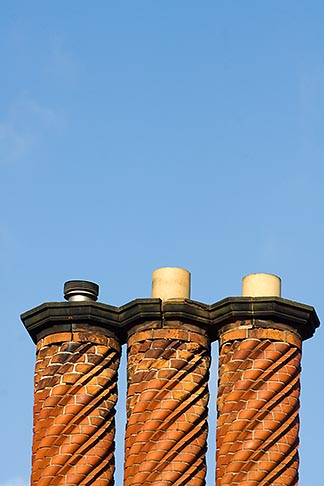 image 7-695-7502 England, Three brick chimneys